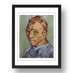 Vincent van Gogh - Self-Portrait Without Beard, A4 size (8.27 × 11.69 inches) Poster