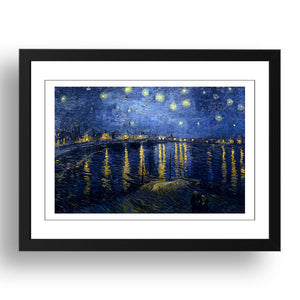 Vincent van Gogh - Starry Night Over The Rhone [1888], A4 size (8.27 × 11.69 inches) Poster