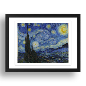 Vincent van Gogh - The Starry Night [1889], A4 size (8.27 × 11.69 inches) Poster