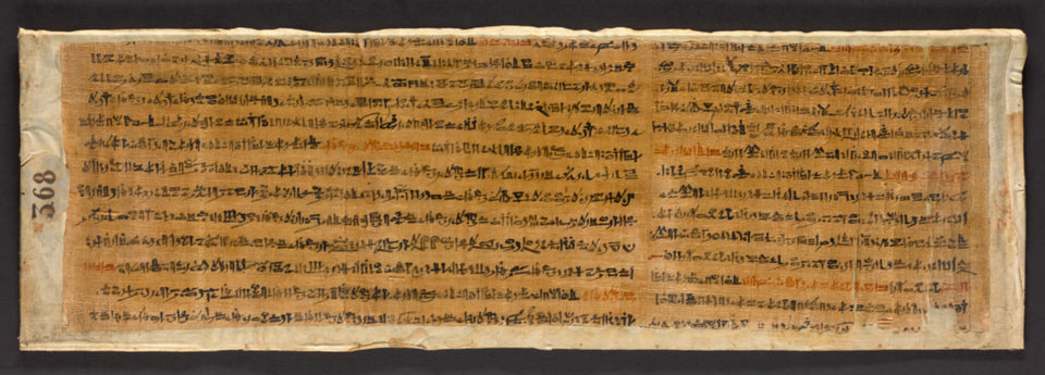 "Unknown:Fragmentary Papyrus with Spells from the Book of the,16x12""(A3)Poster"