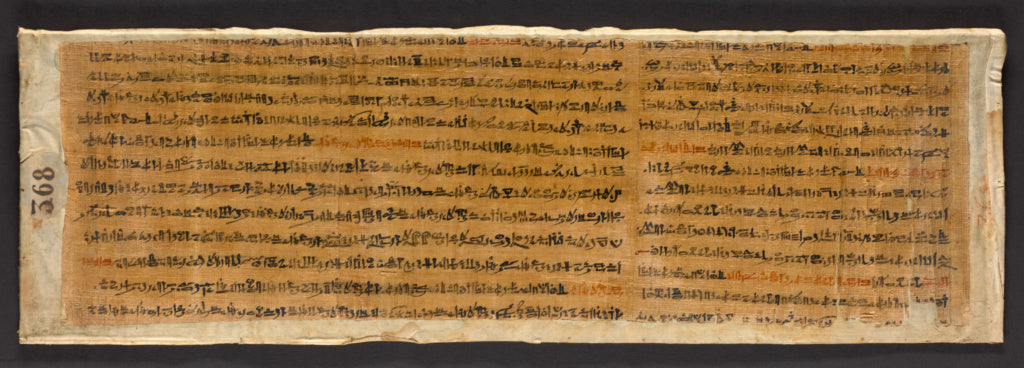 Unknown:Fragmentary Papyrus with Spells from the Book of the,16x12