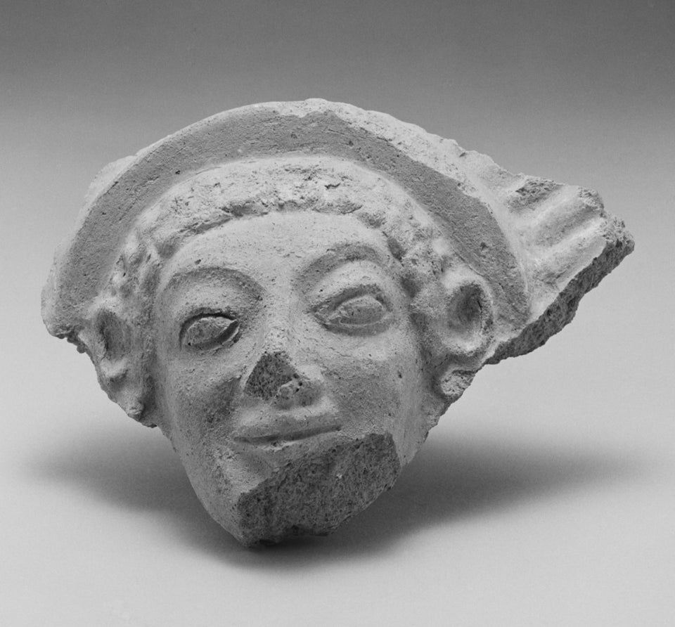 "Unknown:Female Head  Antefix,16x12""(A3)Poster"