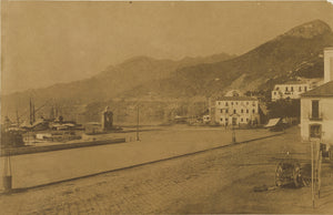 "Firmin Eugène Le Dien:[Waterfront at Salerno],16x12""(A3)Poster"