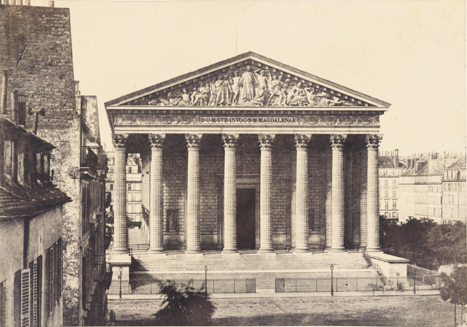 "Henri Le Secq:eglise de la Madeleine (Church of the Madelein,16x12""(A3)Poster"