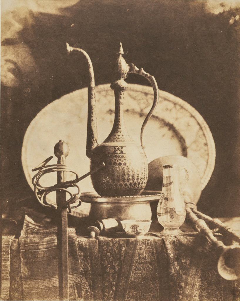 Louis-Rémy Robert:[Still Life with Orientalist Objects],16x12