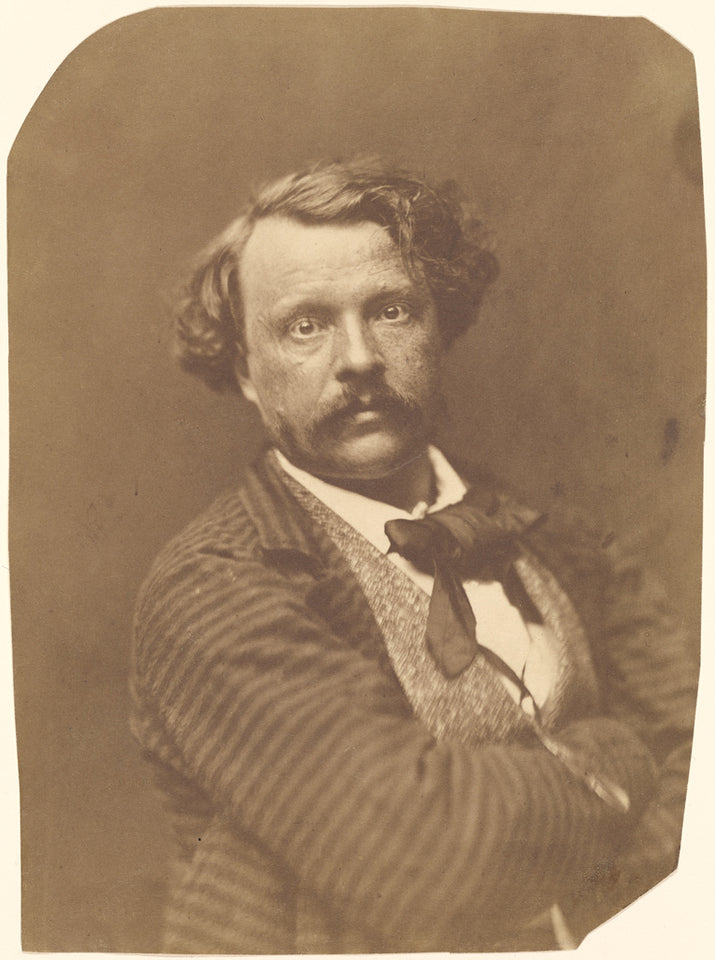 "Nadar [Gaspard Félix Tournachon]:[Self portrait in striped ,16x12""(A3)Poster"