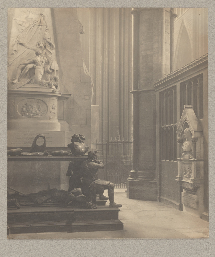 Frederick H. Evans:[Westminster Abbey: North Transept East A,16x12