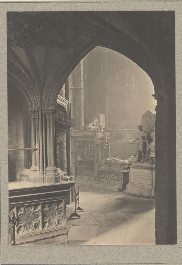 Frederick H. Evans:[Westminster Abbey, East Ambulatory from ,16x12