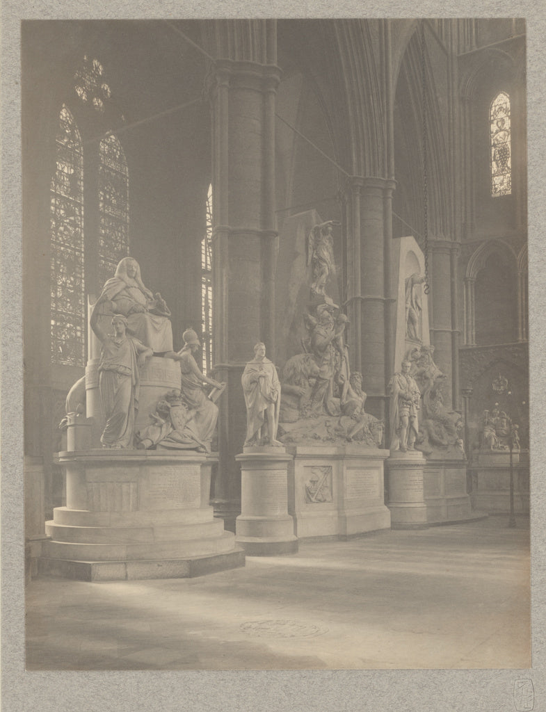 Frederick H. Evans:[Westminster Abbey, North Transept West S,16x12