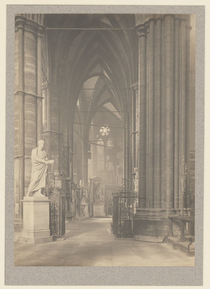 "Frederick H. Evans:[Westminster Abbey, North Ambulatory to E,16x12""(A3)Poster"