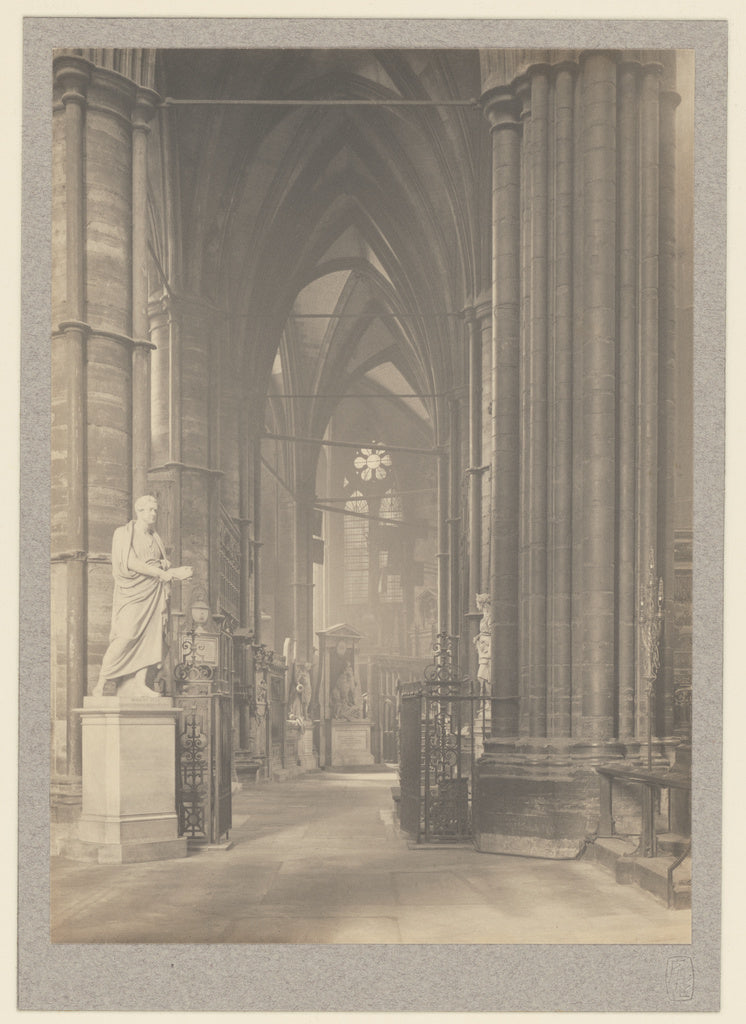 Frederick H. Evans:[Westminster Abbey, North Ambulatory to E,16x12