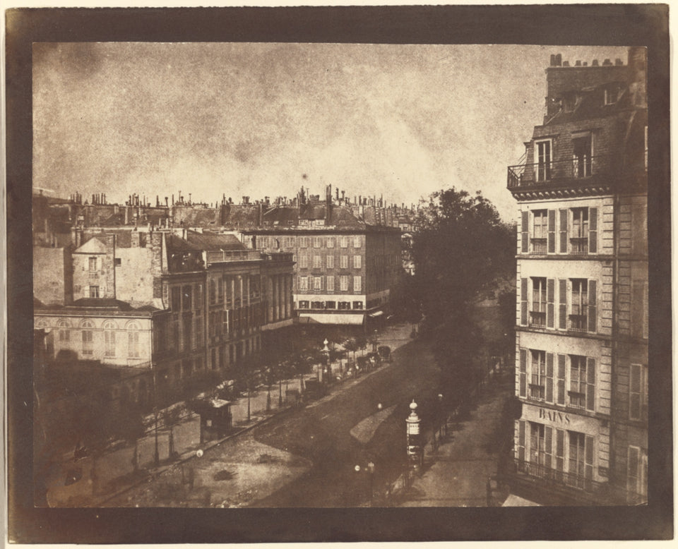 "William Henry Fox Talbot:[The Boulevards of Paris],16x12""(A3)Poster"
