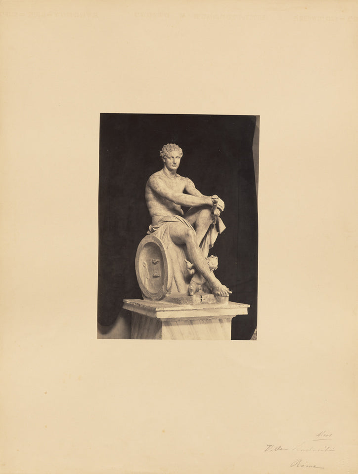 "James Anderson:[classical sculpture, seated male],16x12""(A3)Poster"