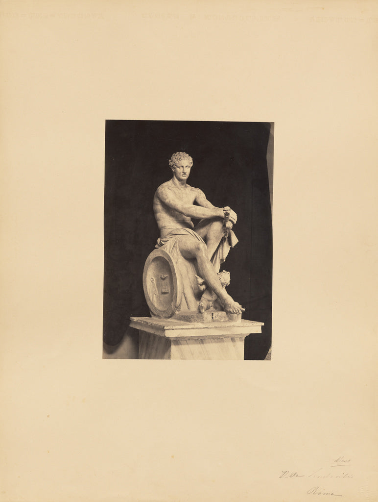 James Anderson:[classical sculpture, seated male],16x12