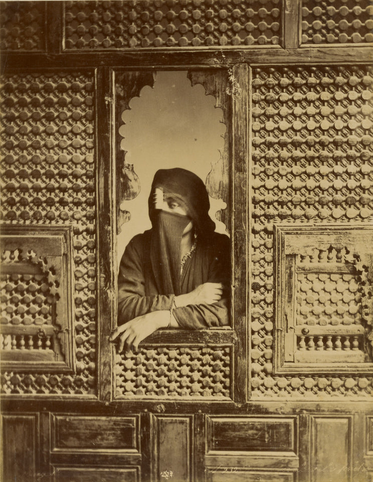 "Zangaki:[Veiled Woman in Window],16x12""(A3)Poster"