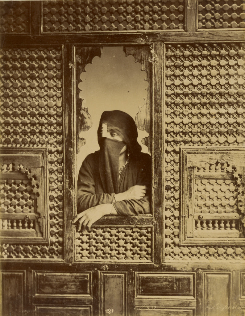 Zangaki:[Veiled Woman in Window],16x12