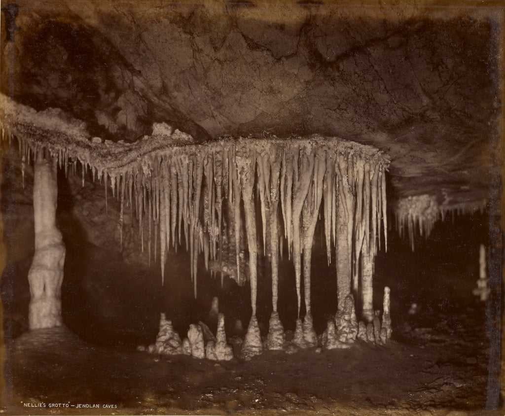 Charles Smith Wilkinson:Nellie's Grotto - Jenolan Caves,16x12
