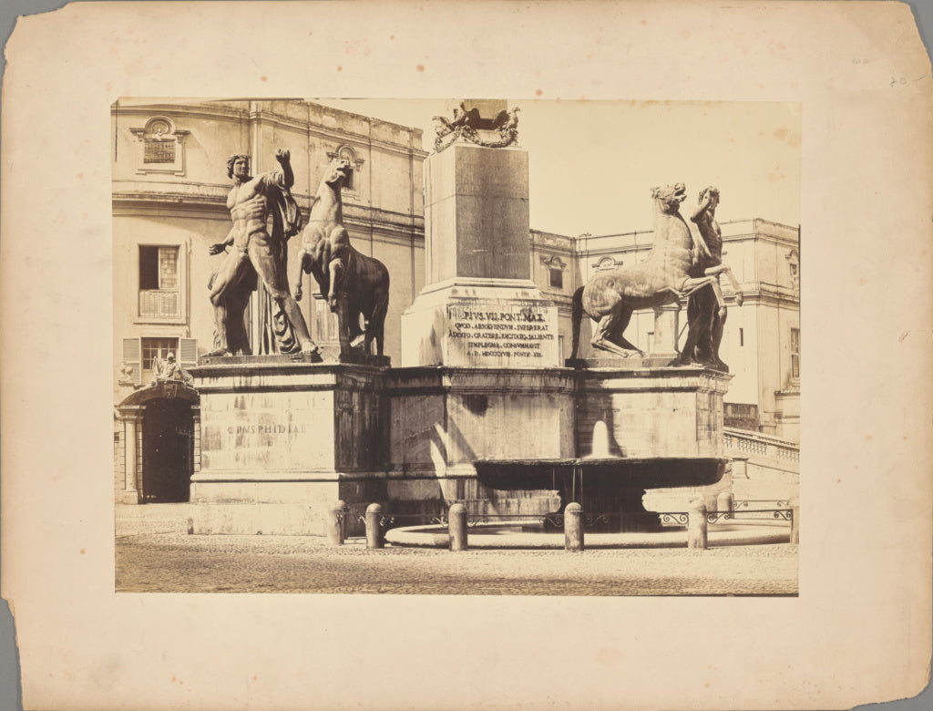 Unknown maker, Italian:[Fountain of Monte Cavallo in the Pia,16x12