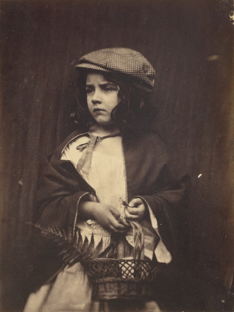 Lewis Carroll:[Young Girl Holding a Basket],16x12