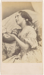 "Oscar Gustave Rejlander:[Seated Young Woman with Flowers in ,16x12""(A3)Poster"