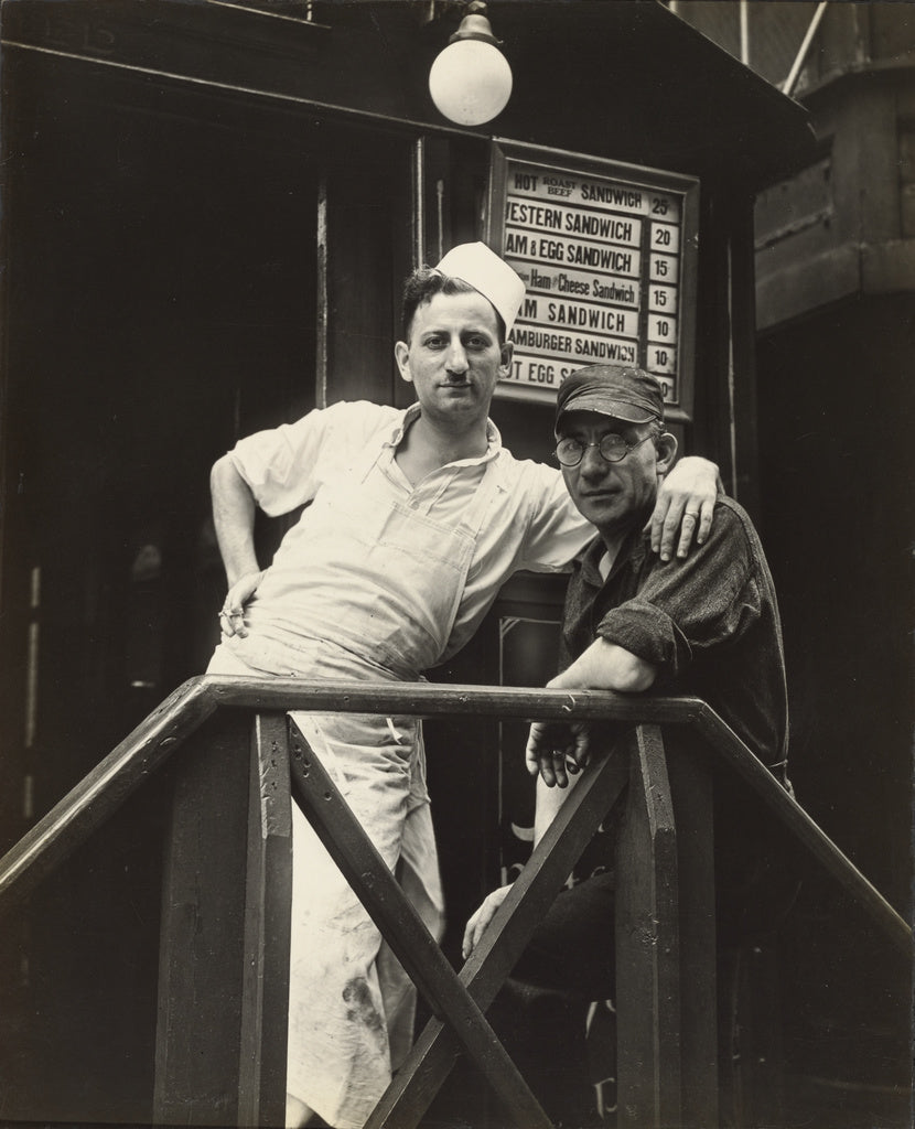 Walker Evans:Second Avenue Lunch/ Posed Portraits, New York,16x12