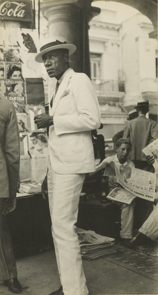 "Walker Evans:Havana Citizen / Citizen in Downtown Havana,16x12""(A3)Poster"
