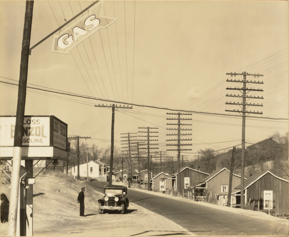 "Walker Evans:Roadside View, Alabama Coal Area Company Town,16x12""(A3)Poster"