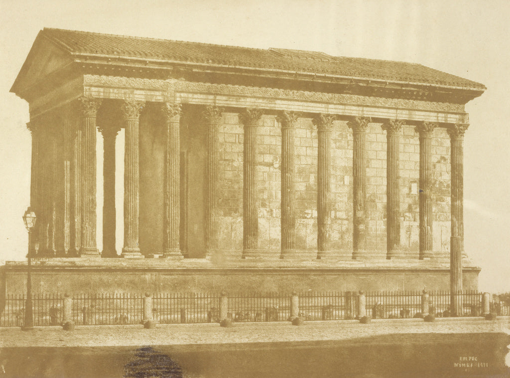 Pierre-emile-Joseph Pécarrère:[The Maison Carrée in Nîme,16x12