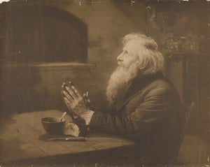 "Rudolf Eickemeyer, Jr.:[Man praying over meal],16x12""(A3)Poster"
