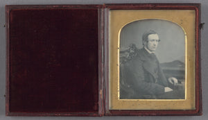 "John Jabez Edwin Mayall:[Portrait of a Seated Young Man],16x12""(A3)Poster"