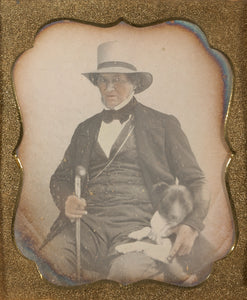 "Unknown maker, American:[Portrait of a Seated Man in Hat wit,16x12""(A3)Poster"