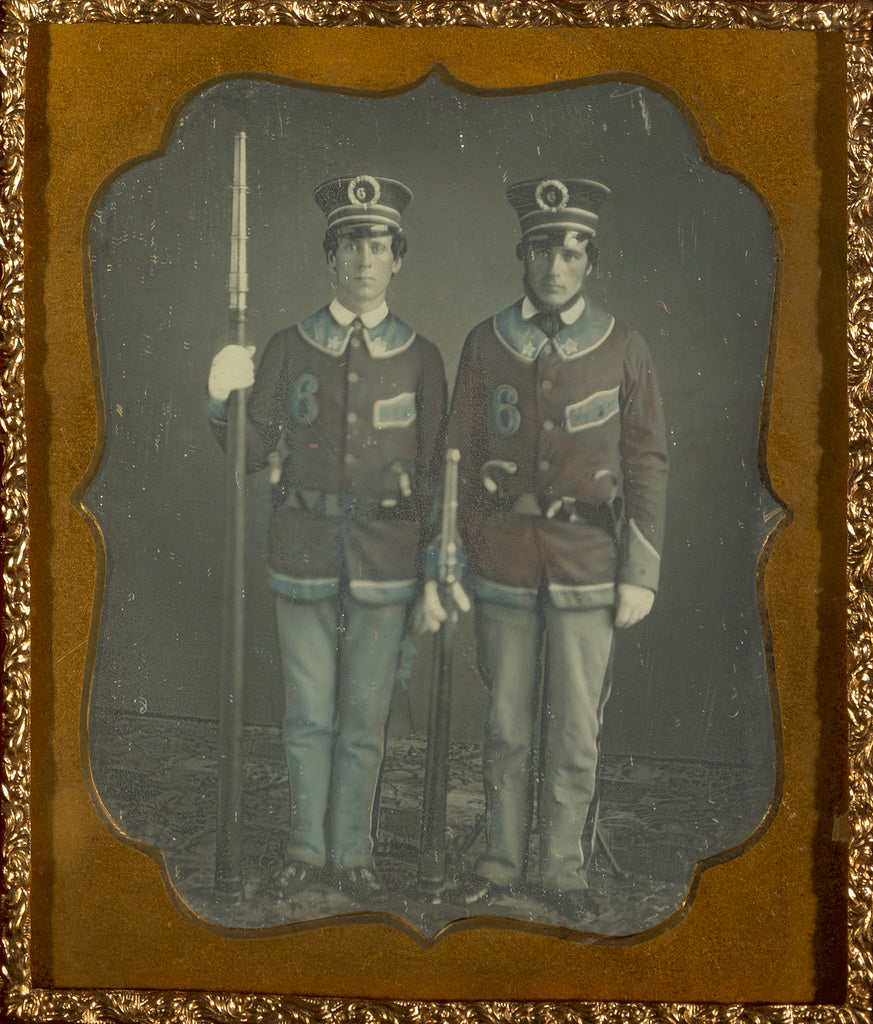 Unknown maker, American:[Portrait of Two Young Men in Unifor,16x12