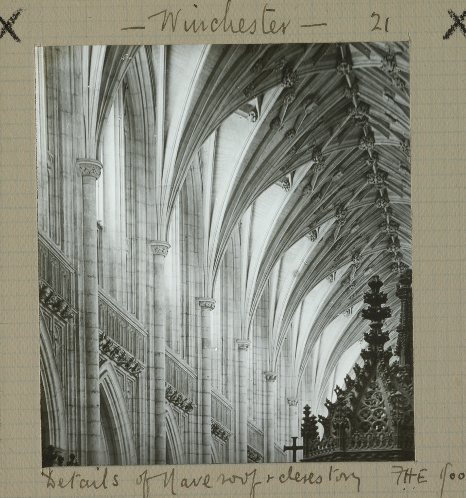 Frederick H. Evans:Wincester. Details of Nave Roof & Clerest,16x12