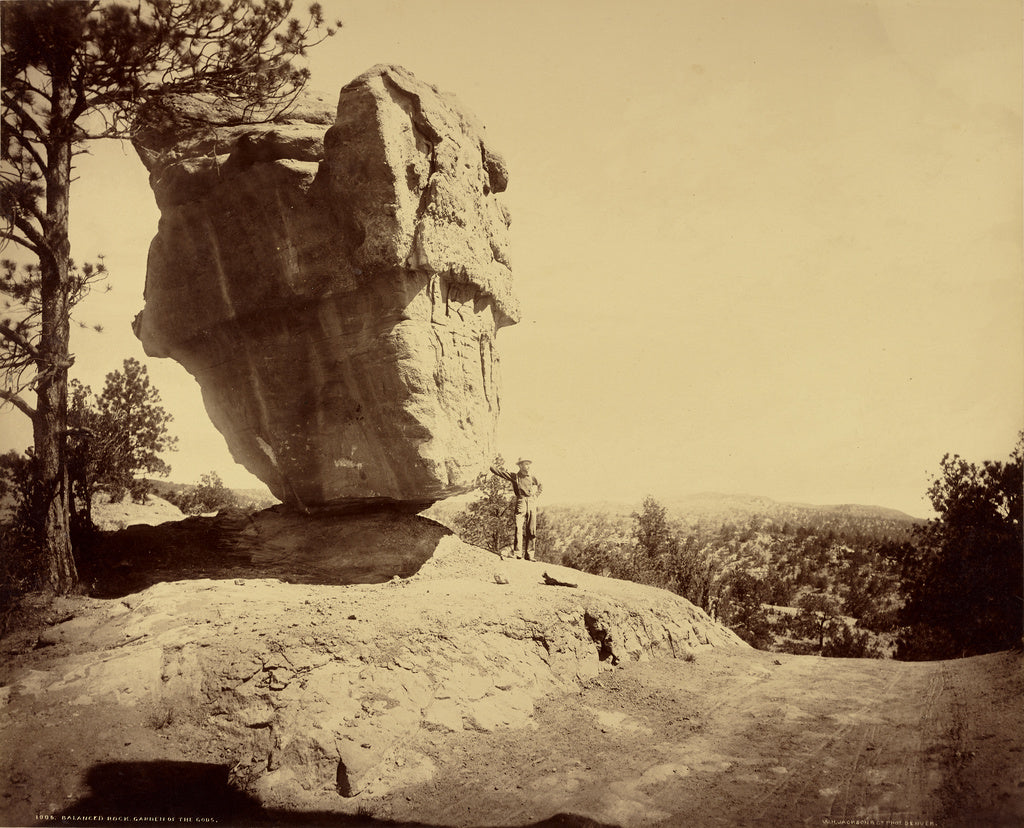 William Henry Jackson:Balanced Rock, Garden of the Gods, Col,16x12