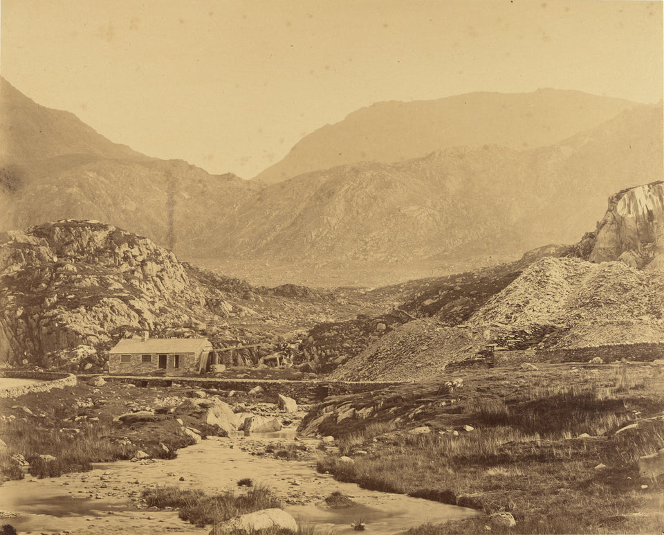"Roger Fenton:[View of mountains at the foot of Lake Ogwen],16x12""(A3)Poster"