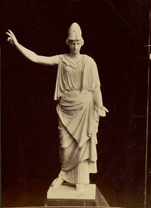 "Unknown:[Statue of female figure in military helmet],16x12""(A3)Poster"