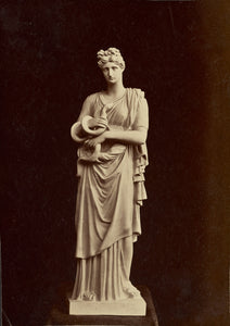 "Unknown:[Statue of woman with snake],16x12""(A3)Poster"