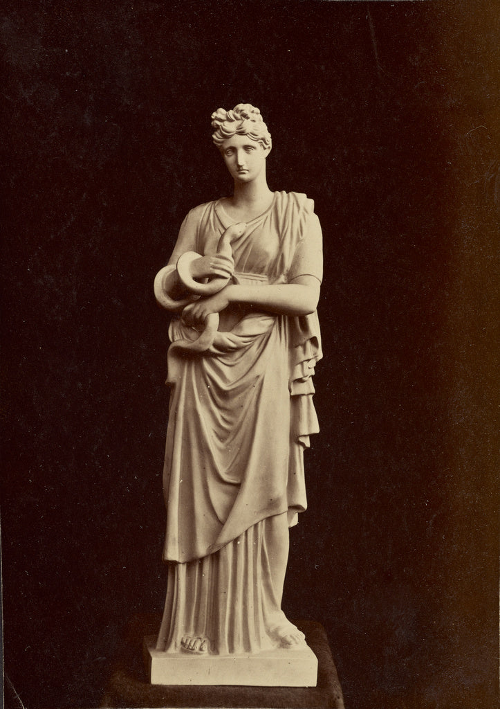 Unknown:[Statue of woman with snake],16x12