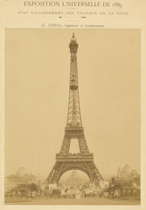 "Louis-emile Durandelle:[The Eiffel Tower],16x12""(A3)Poster"