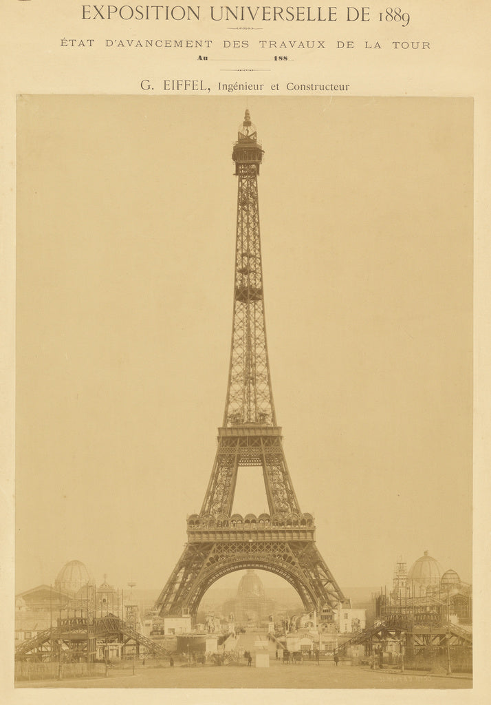 Louis-emile Durandelle:[The Eiffel Tower],16x12