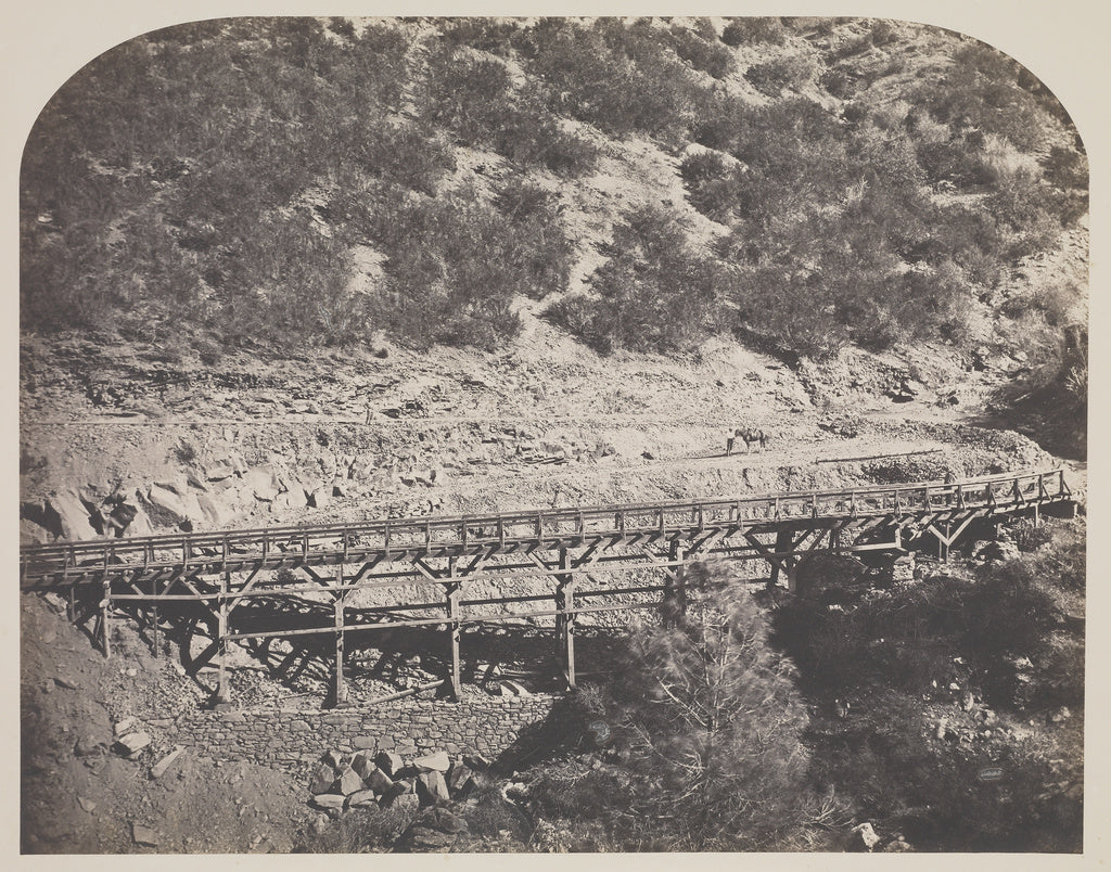 Carleton Watkins:[Rail Road Bridge] / [Railroad Bridge, Cape,16x12