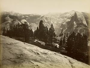 "Carleton Watkins:[The Domes, from Sentinel Dome, Yosemite],16x12""(A3)Poster"