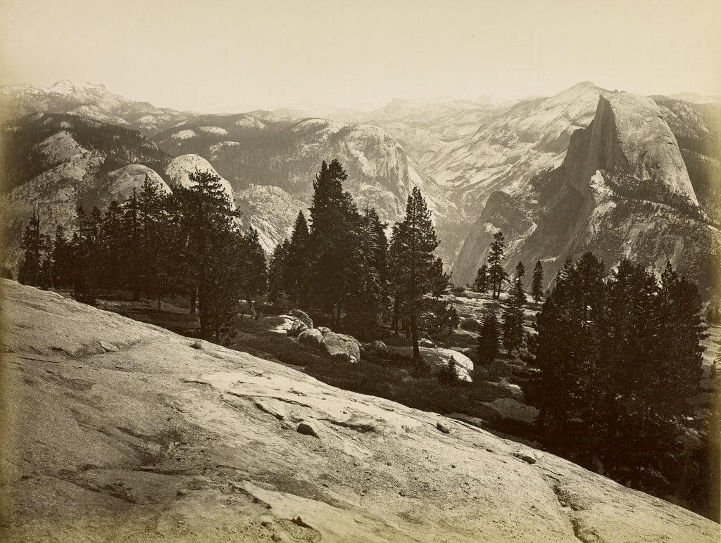 Carleton Watkins:[The Domes, from Sentinel Dome, Yosemite],16x12
