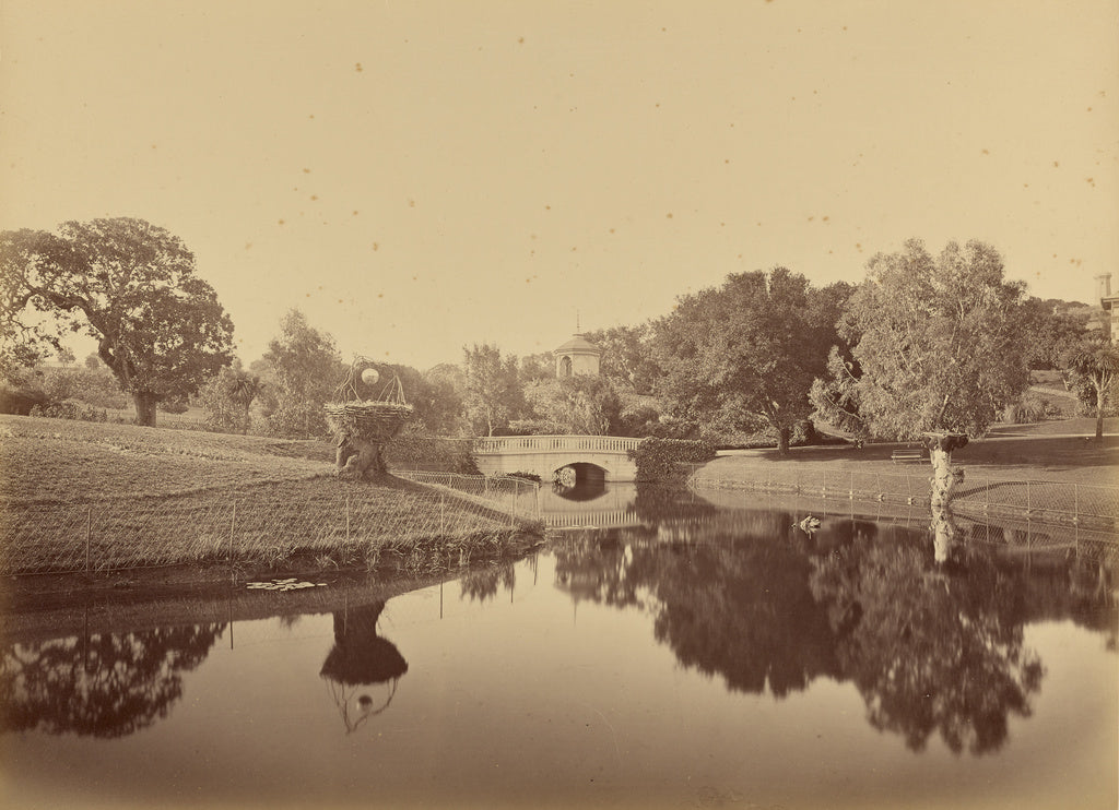 Carleton Watkins:[Pond and Bridge, Thurlow Lodge],16x12