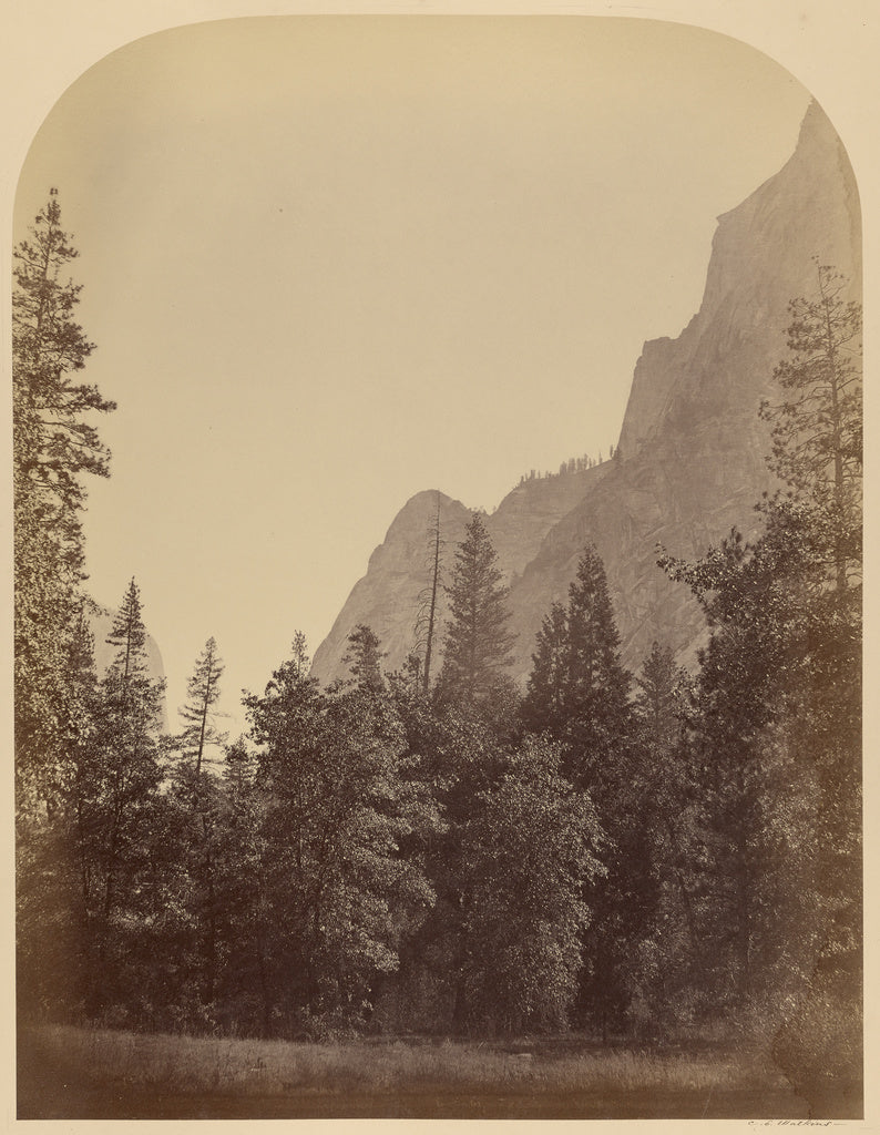Carleton Watkins:Outline View of the Half Dome - 4967 ft., Y,16x12