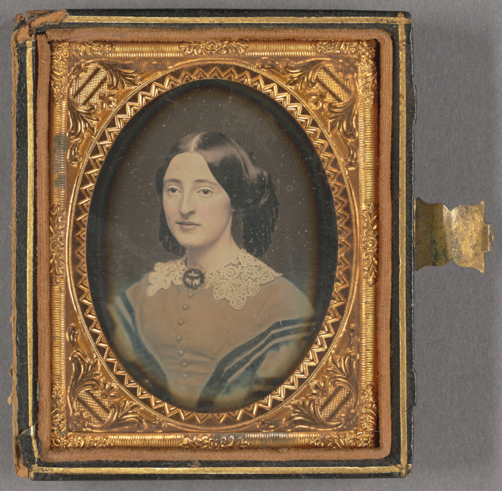 Unknown maker, American:[Portrait of a Woman with Brooch],16x12