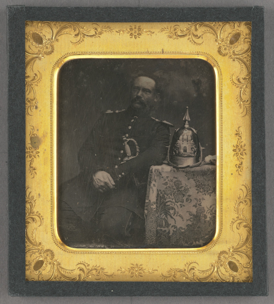 Unknown maker, German:[Portrait of a Seated Prussian Officer,16x12