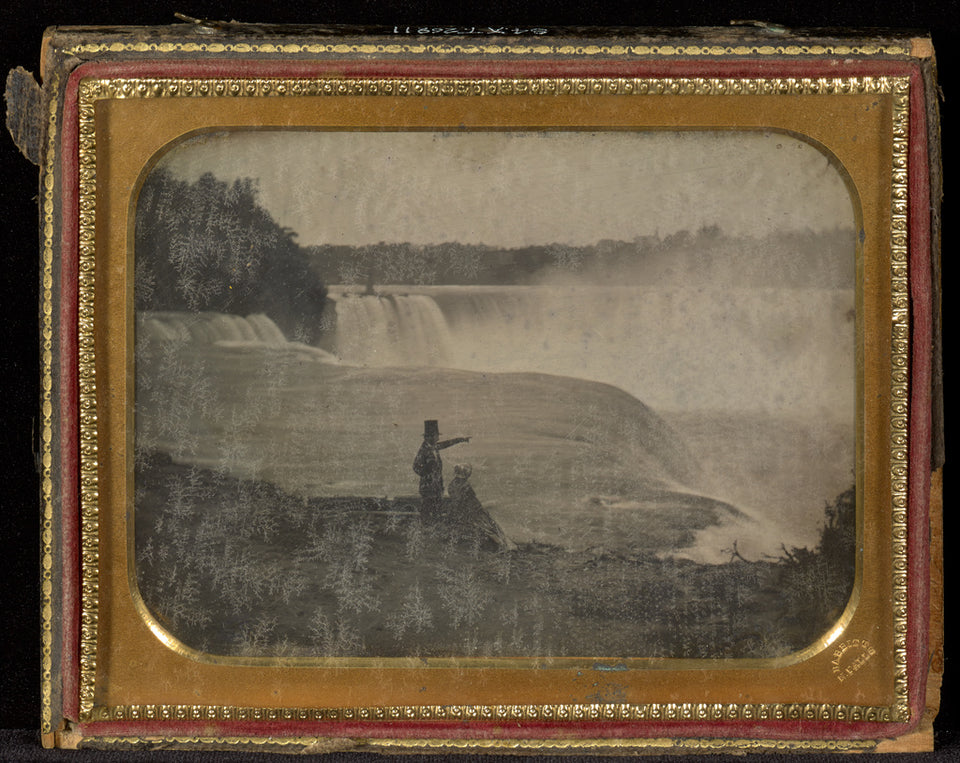 "Platt D. Babbitt:[Niagara Falls with couple in foreground],16x12""(A3)Poster"