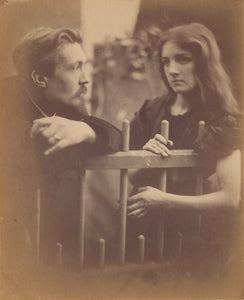 "Julia Margaret Cameron:[Young man and woman leaning on a pic,16x12""(A3)Poster"
