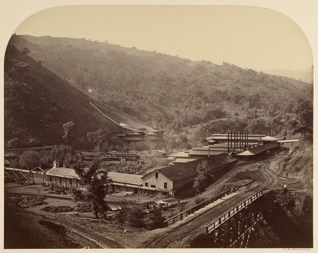 Carleton Watkins:Smelting Works, New Almaden,16x12